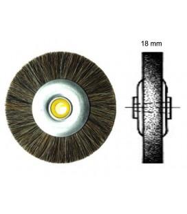 Szczotka z włosia końskiego 80 x 18 mm