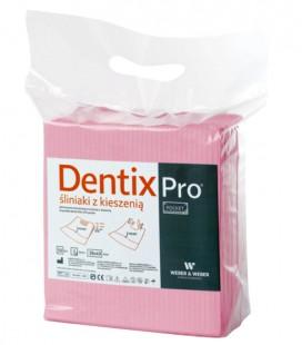 Śliniaki z kieszenią Dentix Pro 50 szt. różowe