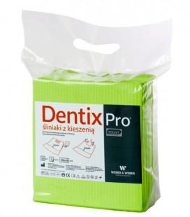 Śliniaki z kieszenią Dentix Pro 50 szt. limonkowe