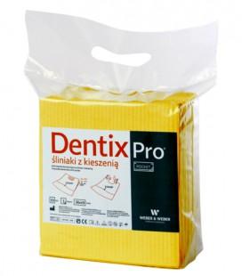Śliniaki z kieszenią Dentix Pro 50 szt. żółte