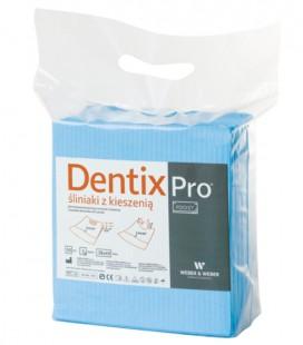 Śliniaki z kieszenią Dentix Pro 50 szt. niebieskie