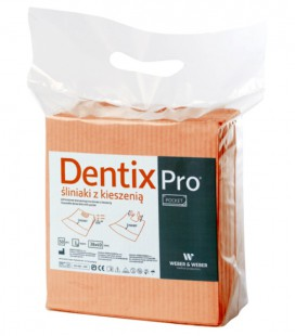 Śliniaki z kieszenią Dentix Pro 50 szt. morelowe