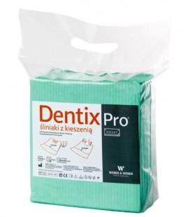 Śliniaki z kieszenią Dentix Pro 50 szt. zielone