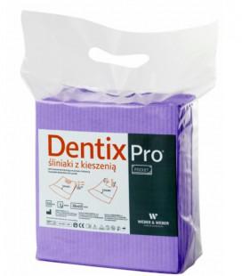 Śliniaki z kieszenią Dentix Pro 50 szt. wrzosowe
