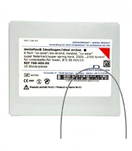 Dentaflex łuk dolny 15 6 splotów co-axial 10 szt.