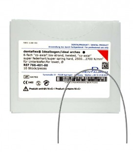 Dentaflex łuk dolny 18 6 splotów co-axial 10 szt.