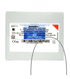 Dentaflex łuk dolny krawężny 19x25 8 splot. 10 szt.