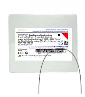 Dentaflex łuk górny krawężny 19x25 8 splotów 10 szt.