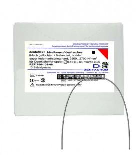 Dentaflex łuk górny krawężny 18x25 8 splotów 10 szt.