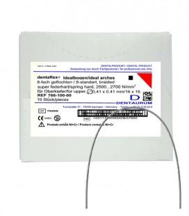 Dentaflex łuk górny krawężny 16x16 8 splotów 10 szt.