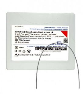 Dentaflex łuk górny 15 6 splotów co-axial 10 szt.