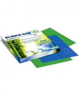 Rubber-Dam rozmiar średni, zielony, miętowy 36 szt.