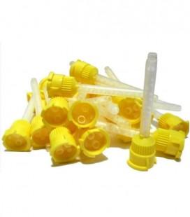 Końcówki mieszające Dentaline 50 szt. żółte