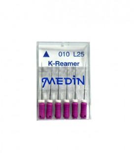 Poszerzacz Medin K-reamer 25 mm 6 szt.