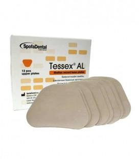 Szelak Tessex AL, płytki szelakowe górne 12 szt.