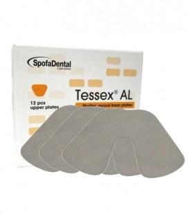 Szelak Tessex AL, płytki szelakowe dolne 12 szt.