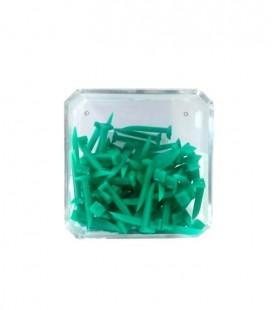 Kliny miękkie zielone 100 szt.