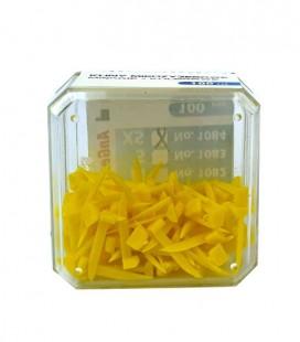 Kliny miękkie żółte 100 szt.