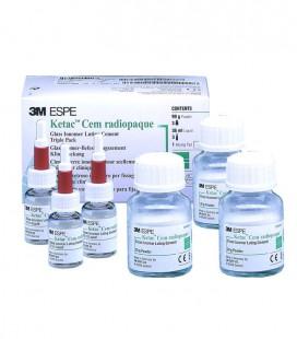 Ketac Cem Radiopaque 3 x 33 g proszku + 3 x 12 ml płynu