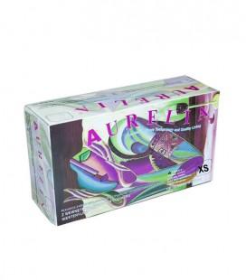Rękawiczki Aurelia lateksowe bezpudrowe XS 100 szt.