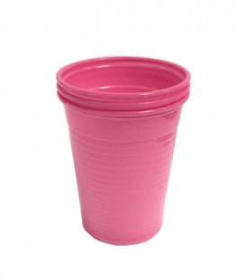 Kubki plastikowe 180 ml fuksja 100 szt.