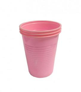 Kubki plastikowe 180 ml różowe 100 szt.