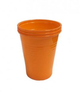 Kubki plastikowe 180 ml pomarańczowe 100 szt.