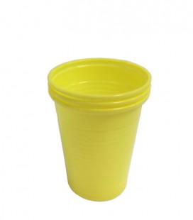 Kubki plastikowe 180 ml żółte 100 szt.