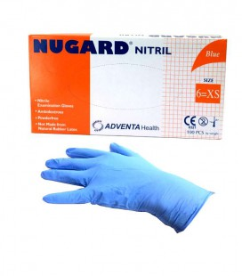 Rękawice Nugard nitrylowe Blue XS 100 szt.