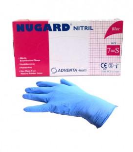 Rękawice Nugard nitrylowe Blue S 100 szt.