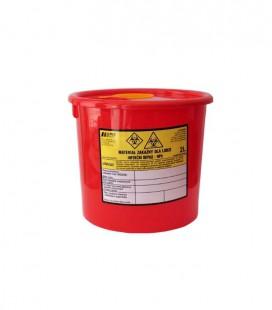 Jednorazowy pojemnik na zużyte igły 2 litry