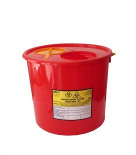 Jednorazowy pojemnik na zużyte igły 5 litrów
