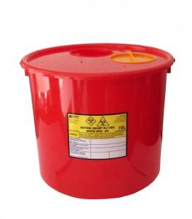 Jednorazowy pojemnik na zużyte igły 10 litrów