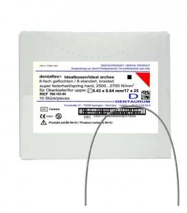 Dentaflex łuk górny krawężny 17 × 25 8 splotów 10 szt.