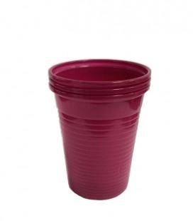 Kubki plastikowe 180 ml burgund 100 szt.
