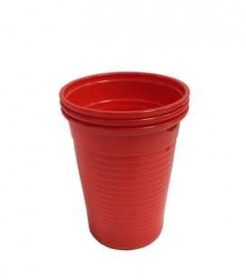 Kubki plastikowe 180 ml czerwone 100 szt.