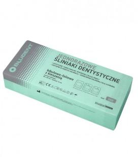 Jednorazowe śliniaki dentystyczne z kieszenią zielone 100 szt.