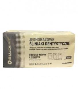 Jednorazowe śliniaki dentystyczne z kieszenią żółte 100 szt.