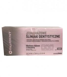 Jednorazowe śliniaki dentystyczne z kieszenią różowe 100 szt.