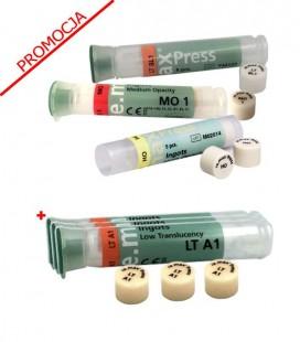 3 × IPS e.max Press HT/MT/LT/MO/HO 5 sztuk, PROMOCJA