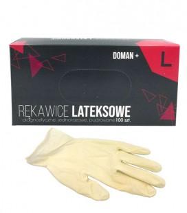 Rękawice lateksowe pudrowane L 100 szt.