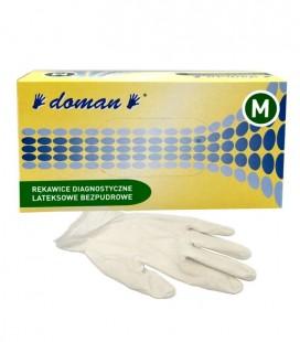 Rękawice lateksowe bezpudrowe M 100 szt.