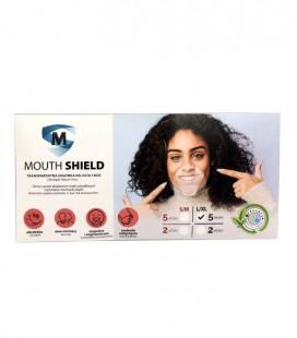 Transparentna osłonka na usta i nos.