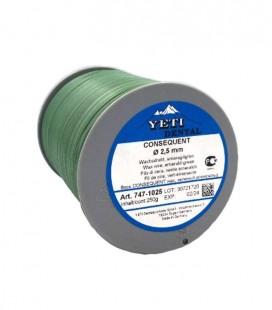 Yeti, Consequent drut woskowy zielony 2,5 mm