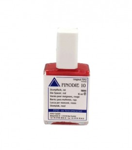 Finodie 10, lakier do kikutów czerwony 15 ml