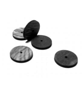 Gumka Bego tarcza czarna 22 x 3,5 mm