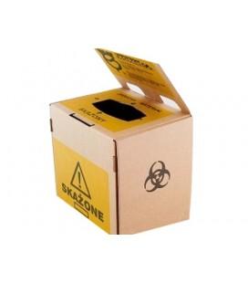Jednorazowy pojemnik na zużyty sprzęt 10 l kartonowy