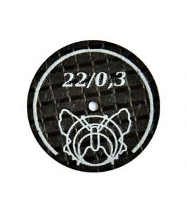 Tarcza szlifierska, separator Motyl wzmocniona 22 × 0,3 mm biała