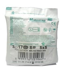 Kompresy jałowe Matocomp 5 x 5 cm 3 szt.