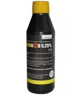 Chloraxid 5.25% 400 g płyn do płukania kanałów korzeniowych.